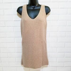 Madewell Merino Wool V-neck sleeveless knit tunic